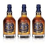 Chivas Regal 18 años Blended Scotch Whisky 3er Set, Whiskey, Schnaps, Spirituose, Alcohol, Botella,...