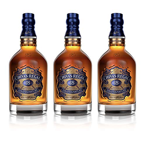 Chivas Regal 18 años Blended Scotch Whisky 3er Set, Whiskey, Schnaps, Spirituose, Alcohol, Botella, 40%, 3 x 700 ml