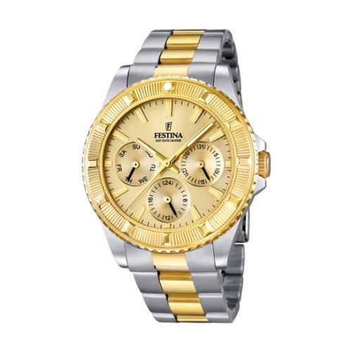University Sports Press F16691/2 - Reloj de Cuarzo para Hombre, con Correa de Acero Inoxidable, Color Multicolor