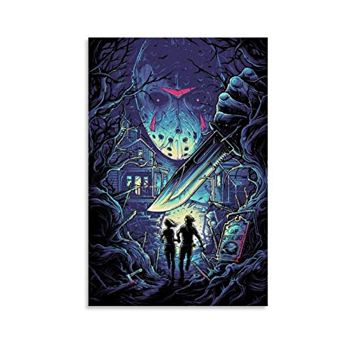 American Horror Film Friday The 13th The Final Chapter Jason Voorhees 5 Poster Decorative Painting Canvas Wall Art Living Room Posters Bedroom Painting 16x24inch(40x60cm)