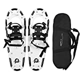 Pansel 22'/25'/30'/35' Snowshoes for Men, Women and Youth, Lightweight Aluminum Alloy Snow Shoes with Adjustable Ratchet Bindings + Carrying Tote Bag, 80/120/160/210 lbs. Capacity