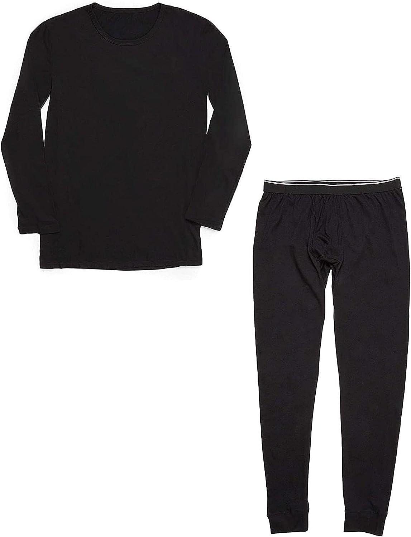 Thermal Underwear for Men, Long Johns Set - Black