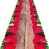 Alfombra pasillo Corredor de alfombras Impresión 3D Diseño de la carretera de la flor de Rose   Alfombra de la zona de dormitorio de la entrada de la entrada moderna   Adecuado para balcón de entrada
