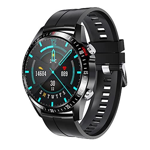 FHX Smart Watch, Bluetooth Call Voice Chat con Ritmo cardíaco/Sleep Monitor Fitness Tracker, Pantalla táctil Completa de 1.28 Pulgadas IP67 Impermeable