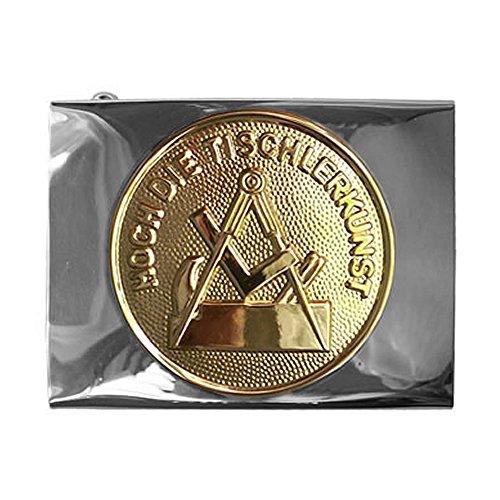 Tischler & Schreiner Handwerk & Zunft Koppelschloss, Schloss silbern / Emblem golden, Fuer-45mm-breite-Koppelguertel