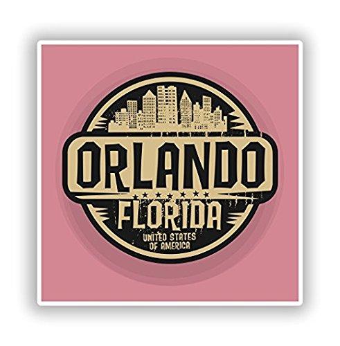 3 Pack - Orlando Florida Vinyl Stickers Travel Luggage - Sticker Graphic - Construction Toolbox, Hardhat, Lunchbox, Helmet, Mechanic, Luggage