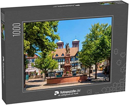 Puzzle 1000 Teile Marktplatz in Bensheim, Deutschland - Klassische Puzzle mit edler Motiv-Schachtel, Fotopuzzle-Kollektion 'Deutschland'