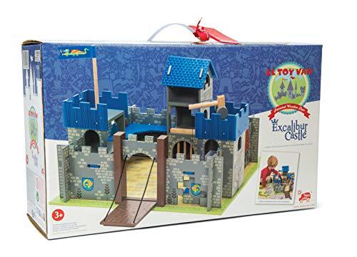 Le Toy Van - Castles Collection Wooden Toy Educational Excalibur Knights Castle | Kids Wooden Castle Playset Model Castle