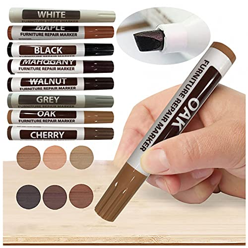 Furniture Repair Wood Repair Markers Touch Up Repair Pen-Markers and Wax Sticks for Stains, Scratches, Floors, Tables, Desks, Carpenters, Bedposts, Touch-Ups, Cover-Ups, Molding Repair