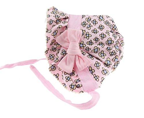 Glamour Girlz Chapeau de soleil pour bébé fille en coton doux Motif floral Rose 3–12 mois