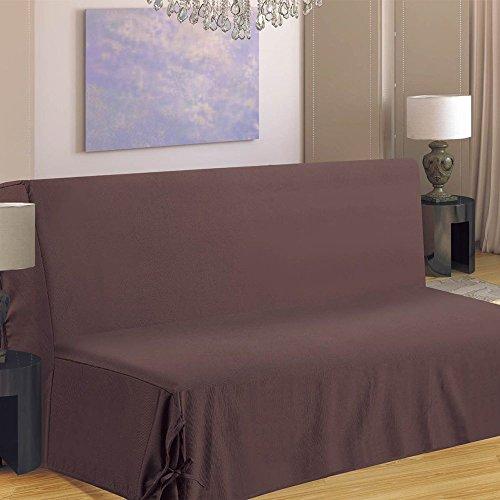Homemaison HM69F516-80 Housse de Canapé pour BZ Polyester Taupe 190 x 140 cm