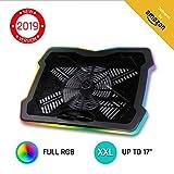 KLIM Ultimate + Refroidisseur PC Portable - 11' à 17' + Éclairage RGB + Support Ordinateur...