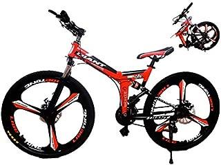 EGO TECHNOLOGY Bicicleta Plegable 26´ Doble Suspension Shimano Montaña Ciclismo de Montaña