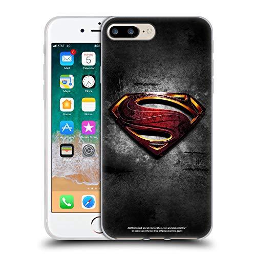 Head Case Designs Oficial Justice League Movie Hombre De Acero Logo Art de Superman Carcasa de Gel de Silicona Compatible con Apple iPhone 7 Plus/iPhone 8 Plus
