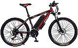 Bicicletas Eléctricas, Adultos de 26 pulgadas de bicicletas de montaña eléctrica, 36V 10.4AH batería de litio bicicleta eléctrica, con el coche de bloqueo / defensa / luz de la viga del bolso / linter