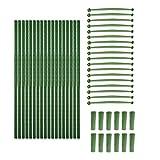 LFOZ Soporte para plantas de jardín, jaula de cultivo de tomate para plantas de escalada vertical que apoya flores trepadoras y jaulas de cultivo de frutas, 48 piezas (color: verde)