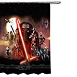 Jay Franco Star Wars Ep7 Poster 72' x 72' Fabric Shower Curtain