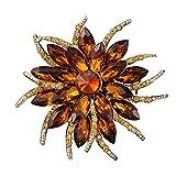 Drawihi ブローチ レディース ファッション彼岸の花の形 人気アクセサリー 合金 プレゼント 贈り物 size 6.2*6.2 cm