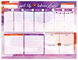 "8.5"" x 11"" Weekly Work/Life Balance Pad - Tear Off Weekly To Do Pad Column Style Views, Monday through Sunday with Space to Track Daily Water Intake 60 Tear Off Sheets Per Pad! More than Enough for One Full Year of Weekly Planning! Prioritized Work a..."