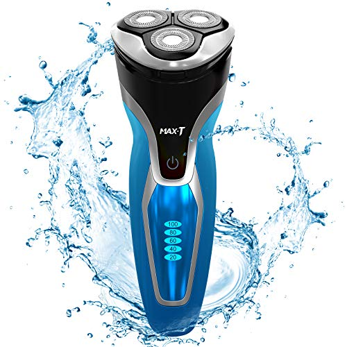 MAX-T RMS7109 Electric Shaver Razor Wet & Dry IPX7 100% Waterproof...