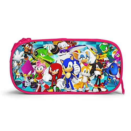 Sonic Federmäppchen 3d Federmäppchen Kapazität Doppelreißverschluss Bleistift Durable Pen Box Für Kinder Jungen Mädchen Blau F9