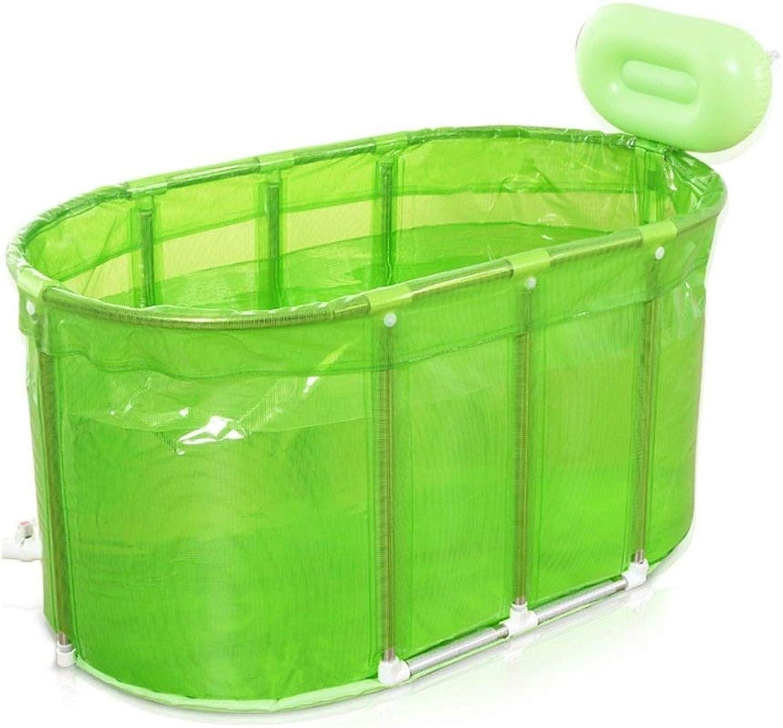 Faltende Wanne, Bad-Fass-aufblasbares Starkes Isolierungs-warmes Bad Der Erwachsenen Badewanne-Kinder, 2 Farben GAOFENG (Farbe   Grün, gre   110  60cm)