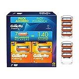 Gillette Fusion 5 Cuchillas de Afeitar Hombre, Pack Ahorro Champions League, Paquete de 7 Recambios