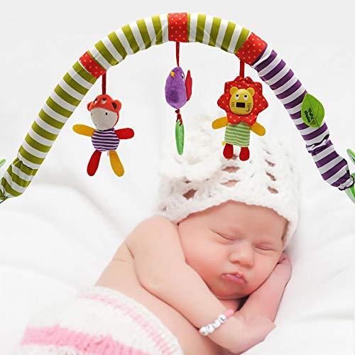Bebé colgando campana-bebé cama clip cochecito colgante adorable niños sonido juguetes cama colgante sonajero cuna música cama campana proyección juguete colgante giratorio sonajeros animales