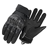 HEROBIKER Tactical Gloves for Men Touch Screen Full Finger Gloves Combat Military Police Shooting Airsoft Paintball Motorcycle Climbing Heavy Duty Work Outdoor Sports