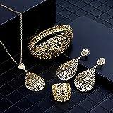 ghn Collares de cadena Sunspicems 2020 Color oro Metal árabe Conjunto de joyería hueco brazalete arete collar anillo joyería boda joyas de Dubai regalos nupcial joyería y accesorios