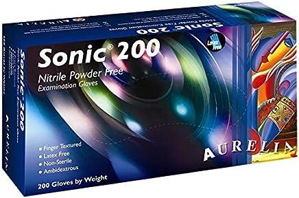 Color Morado Guantes de nitrilo Aurelia Sonic 100 Unidades sin Polvo