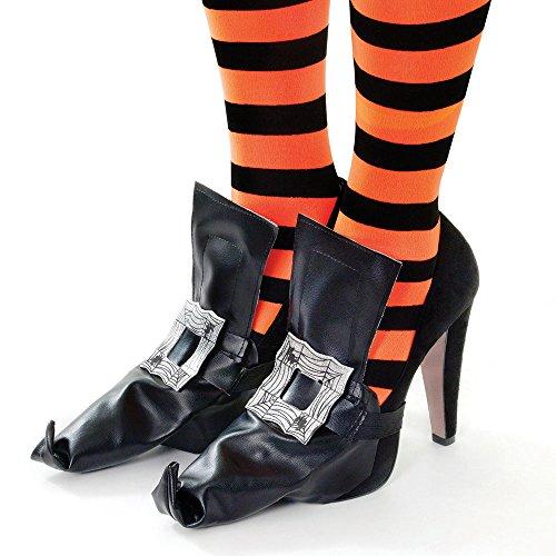 Bristol Novelty Novelty-BA838 BA838 Couvre-Chaussures de Sorcière avec Boucle Argentée, Noir