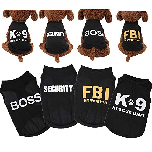 Yikeyo xs Puppy Clothes boy for Small Dog Chihuahua - 4 Pack Male Dog Shirts - Small Dog Clothes Male - Toy Dog Clothes boy - Pets Clothing Yorkie - Tshirts for Dogs Outfits Summer