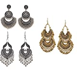 Afghani tribal Style Earrings for girls Party wear Stylish fancy hangings Suit for Casual, Wedding, engagements,prom,any occasion you want to be more charming High Quality plating for Long Lasting Finish Tiaraz is committed to provide the best jewelr...