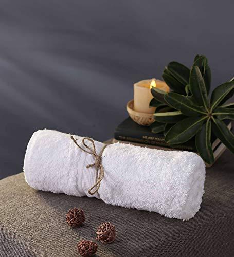 Bombay Dyeing Santino 550 GSM Cotton Bath Towel - Large, White