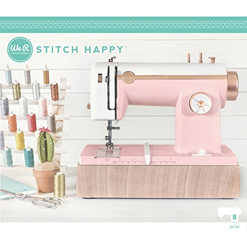 We R Memory Keepers 0633356630364 Sewing Machine Stitch Happy-Pink