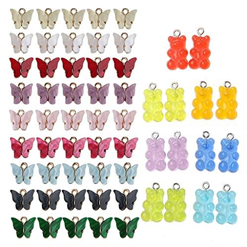 ERUYN, dijes de Mariposa, Manualidades de Bricolaje, joyería de Resina de Mariposa, dijes Colgantes para Pulsera, Collar, Pendientes, joyería Artesanal, Multicolor