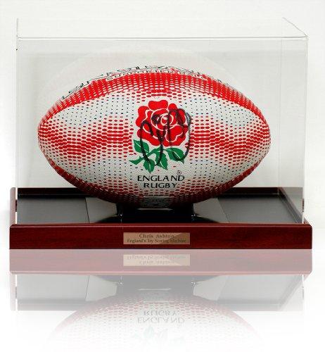 British Sports Museum Chris Ashton handsigniert Gilbert England Rugby Ball Größe 5(lot735)