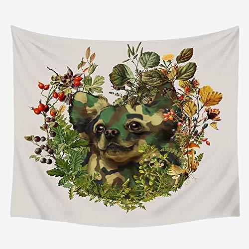 YTSM Diseño de la Personalidad Tiger Fox Animals Tapiz Tapiz de Pared Moda Mesita de Noche para Dormitorio Decoración de la habitación Boho Tapestry-06_150X170CM