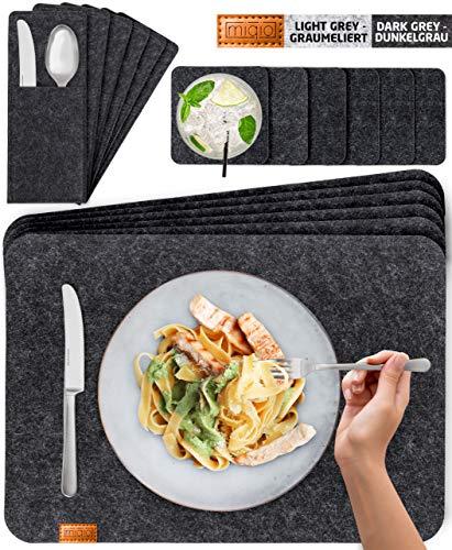 Miqio® Design Filz Tischset abwaschbar | Mit Marken, gebraucht gebraucht kaufen  Wird an jeden Ort in Deutschland