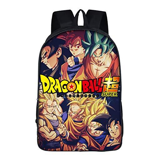 DBZ Dragon Ball La Escuela Mochila Super Saiyan Mochila para Estudiante B