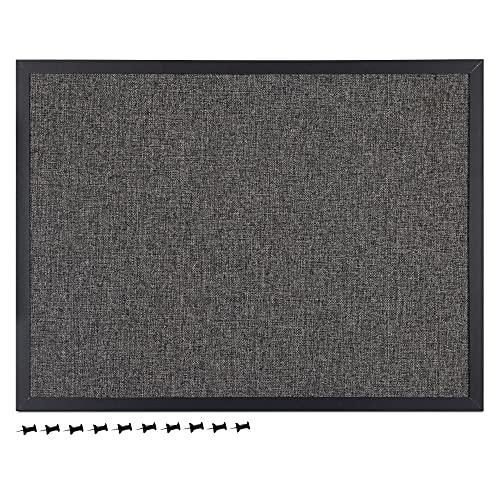 Navaris Memoboard mit Textiloberfläche - Memoboard 60x45 cm mit Pinnwand aus Stoff - Pinwand Stofffläche mit Rahmen - inkl. Stecknadeln Pins