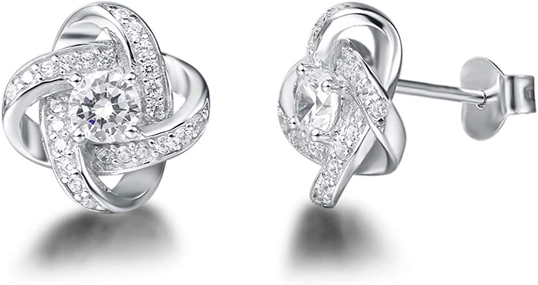 FANCIME Now free shipping Gifts White Gold Plated Real Silver St Sterling Hypoallergenic