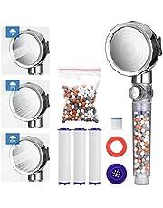 douchekop, handdouche, douchekop, filter met extra mineraal ballen, 3 standen, waterbesparende functie, afneembaar, verhoogt de druk, eenvoudige installatie.