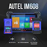 Autel IM608 Key Programming Diagnostic Tool with IMMO XP400 Key Programmer J2534 Reprogrammer ECU Coding 23 Service Functions for Workshops Mechanics