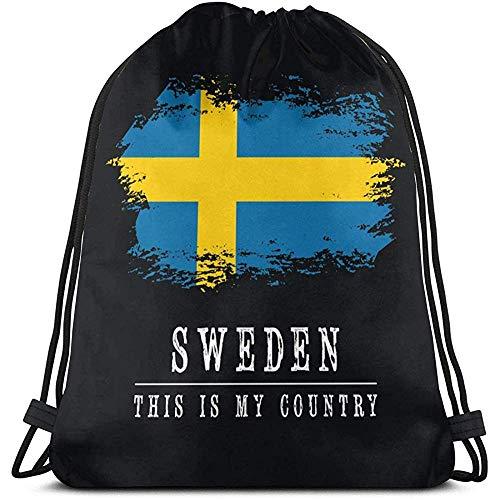 Medsforu Schweden Kordelzug Rucksack Rucksack Umhängetaschen Sporttasche