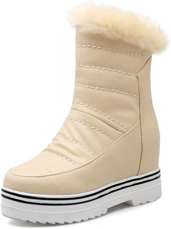 AN Womens Fur Collar Sponge Soles Urethane Boots DKU02145