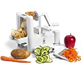Top Home Solutions Tri Blade Spiral Vegetable Slicer/Spiralizer with 3 Stainless Steel Cutting