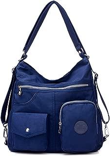 Casual Crossbody Bags for Women Waterproof Canvas Hobo Shoulder Handbags Lightweight Convertible Backpack