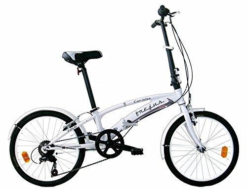 Frejus P2X20206 - Bicicleta 20' Plegable Unisex, Color Blanco